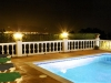 Pool & Nerja at night